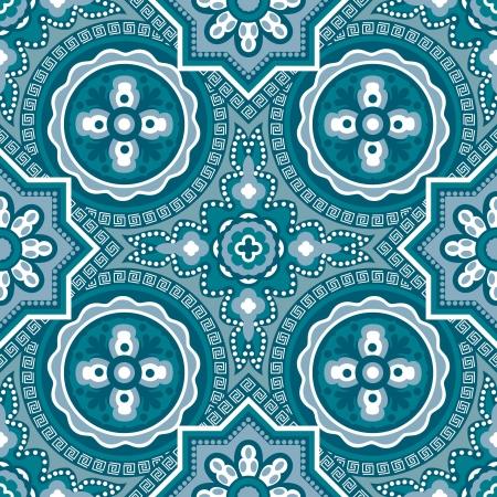 kashmir: Kashmir geometric wallpaper - vector seamless pattern Illustration