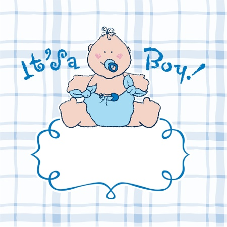 It s a boy vector announcement card Stock Vector - 17696213