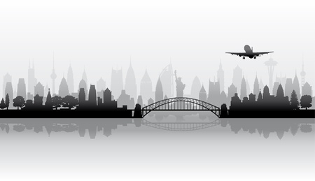 Cityscape vector background Stock Vector - 17906535
