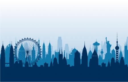 Cityscape vector background Stock Vector - 17906534