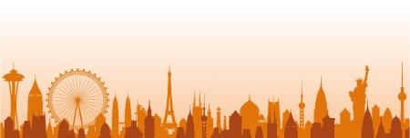 Cityscape vector background Stock Vector - 17906533