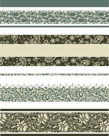 Set of 4 different decorative borders Stock Vector - 18002800