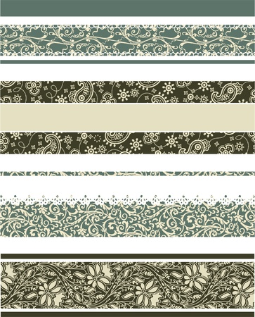 cashmere: Set of 4 different decorative borders