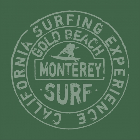 California surfing company- artwork for t-shirt in custom colors Stock Vector - 18712067