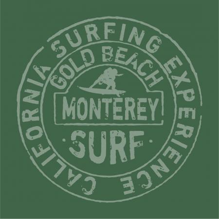 Californie surf entreprise oeuvre pour t-shirt aux couleurs personnalisés