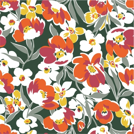 floral fabric: Floral  seamless pattern