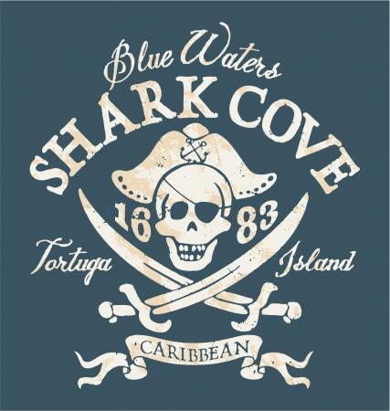 pirata: Jolly Roger piratas - ilustraci�n vectorial en 2 colores personalizados Vectores
