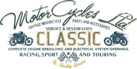 오토바이 라이더 - 사용자 정의 색상 소년 t-셔츠는 빈티지 아트 워크, 별도의 레이어에 그런 지 효과