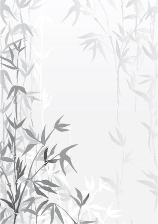 東洋の竹の森の壁紙  イラスト・ベクター素材