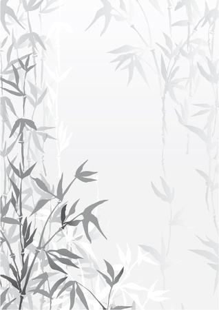 Oriental  bamboo forest wallpaper