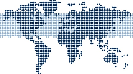 world maps: Dotted world map - Stylized world map wallpaper Illustration