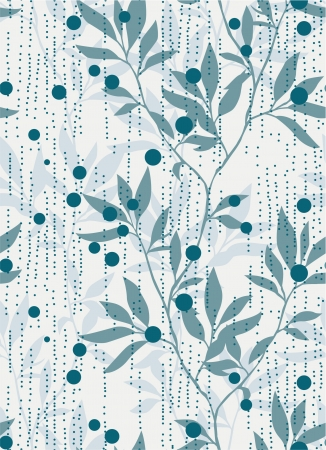 Abstract foliage seamless pattern