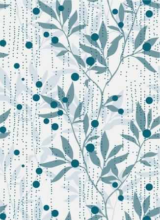 Abstract foliage seamless pattern