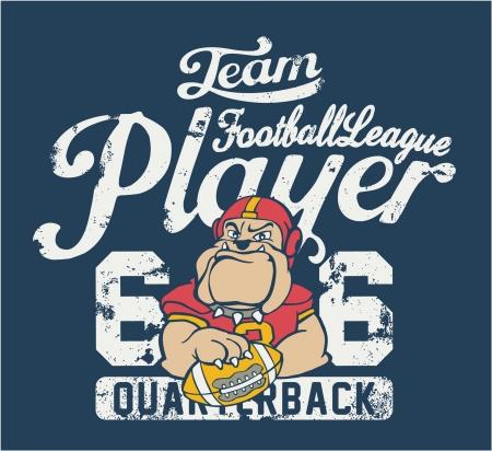 t shirt print: jugador de f�tbol - impresi�n de los ni�os usan en colores personalizados - Grunge efecto en la capa separada Vectores