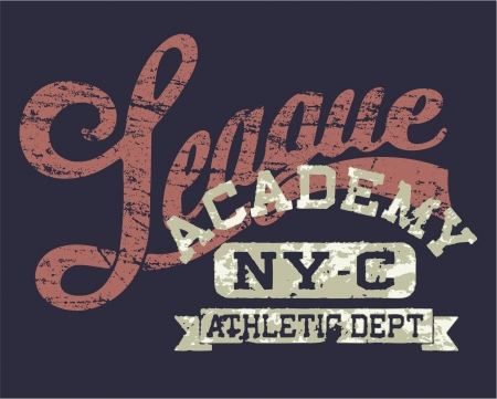 University athletic league - Vintage print for sportswear apparel in custom colors Vector