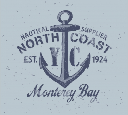 Nautical graphic - Vector print  in custom colors