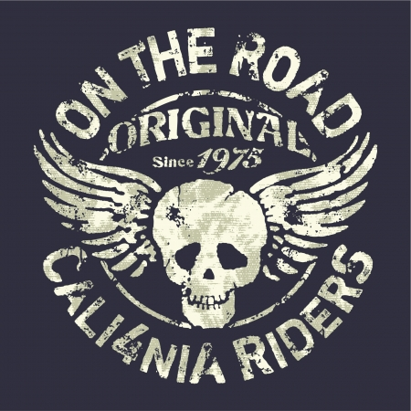 man t shirt: California motorcycle riders team Illustration