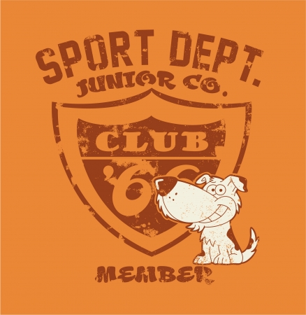athletic wear: Athletic department - Vector artwork for children wear in custom colors - Grunge effect in separate layer