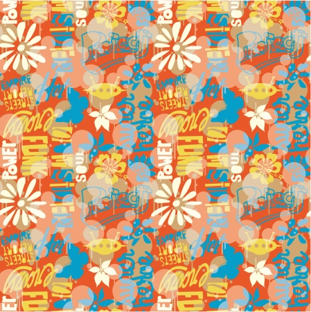 Urban wallpaper - Vector graffiti style camouflage seamless pattern Stock Vector - 23864053