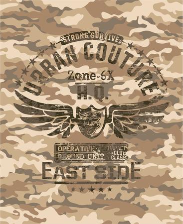 Couture Urban - Artwork per usura urbano in stile militare, camouflage sfondo seamless pattern