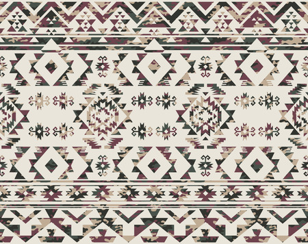 Native Americans pattern with camouflage texture,  vector seamless pattern in custom colors Vettoriali