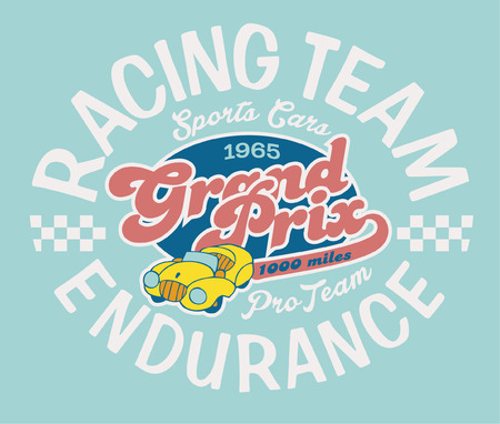 Endurance racing team - Vector artwork for children wear