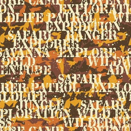 mimetic: Written camouflage, vector seamless pattern in custom colors