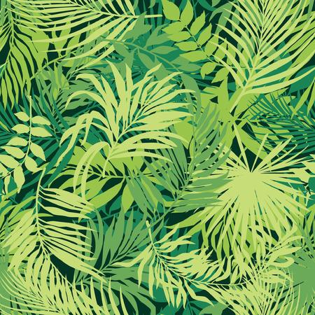 葉の壁紙ベクターのシームレス パターン  イラスト・ベクター素材