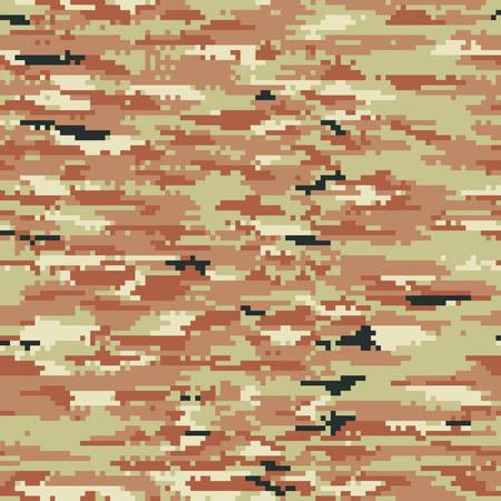 pixelated: Pixelated camouflage wallpaper, vector seamless pattern in custom colors Illustration