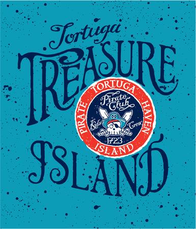 wildcard: Cute skull Tortuga pirate flag, vector artwork for kids wear in custom colors
