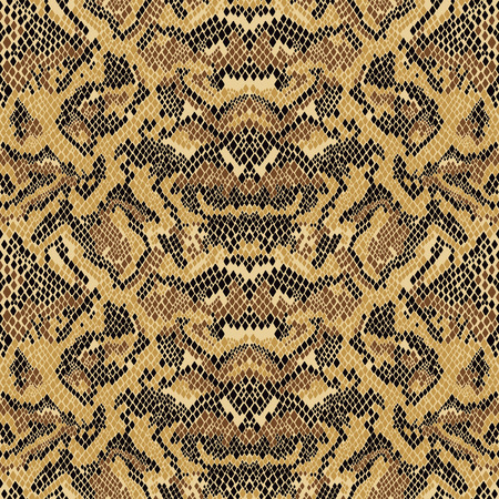 Abstract Python snake skin wallpaper, vector print seamless pattern