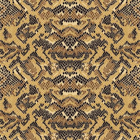 Abstract Python snake skin wallpaper, vector print seamless pattern