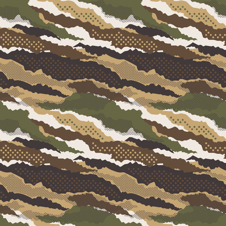 Abstract mimetic dotted camouflage wallpaper vector seamless pattern Illustration