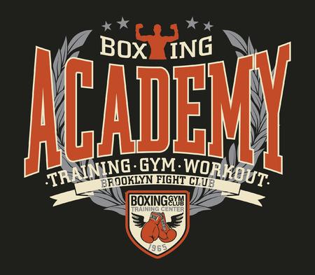 Brooklyn Fight Club Boxing Academy Vektordruck für Jungensportbekleidungs-T-Shirt