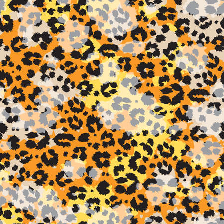 Colored abstract leopard skin wallpaper vector seamless pattern