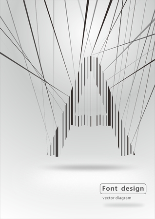 actual: Font installation art a Illustration