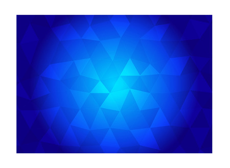 chromatic colour: Blue polygon background Illustration