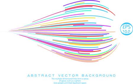 efecto de perspectiva de la cinta de colores, Vectores