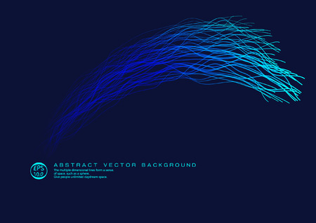 Vector abstract background consisting of lines