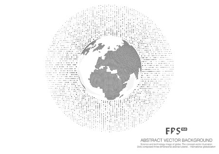 Wissenschaft und Technologie Bild von Globus, Abbildung, international Bedeutung, Punkt Weltkarte