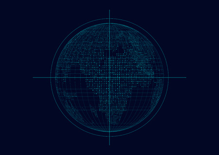 globalization: Three-dimensional abstract vector planet,meaning globalization, internationalization