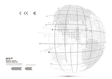 land development: Three-dimensional abstract planet,meaning globalization, internationalization Illustration