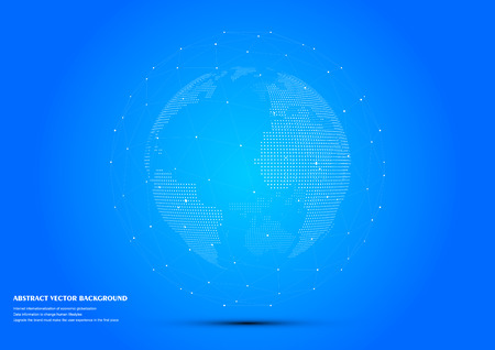 globalization: Three-dimensional abstract planet,meaning globalization, internationalization Illustration