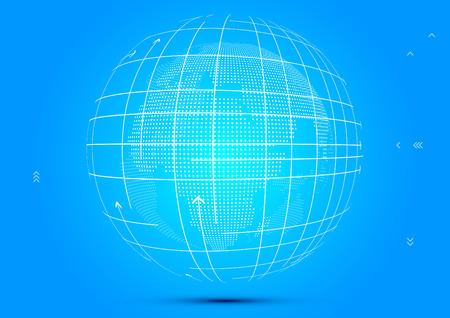 Three-dimensional abstract planet,meaning globalization, internationalization Ilustração