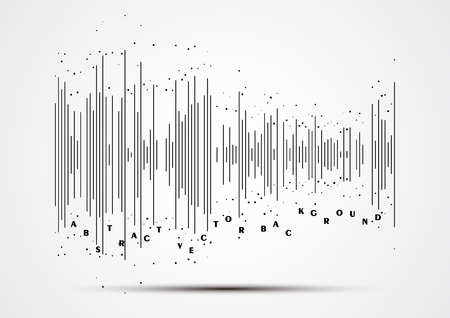 vibrations: Abstract flat design sound waves collection.