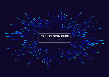 breakout: Lines composed of glowing backgrounds, abstract  background, radiating lines Illustration