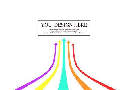 다채로운 화살표 일러스트
