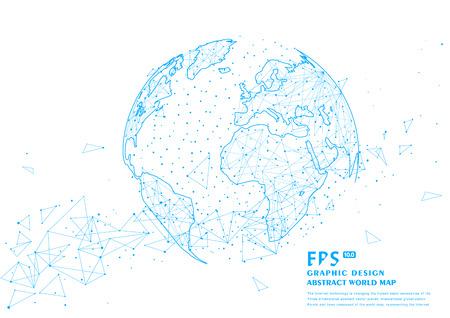 Planète abstraite en trois dimensions, ce qui signifie la mondialisation et l'internationalisation