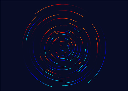 Abstract vortex, circular swirl lines. Star trails around in the night sky.  Luminous helix Illustration