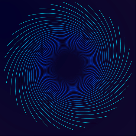 Abstract vector background, spiral line